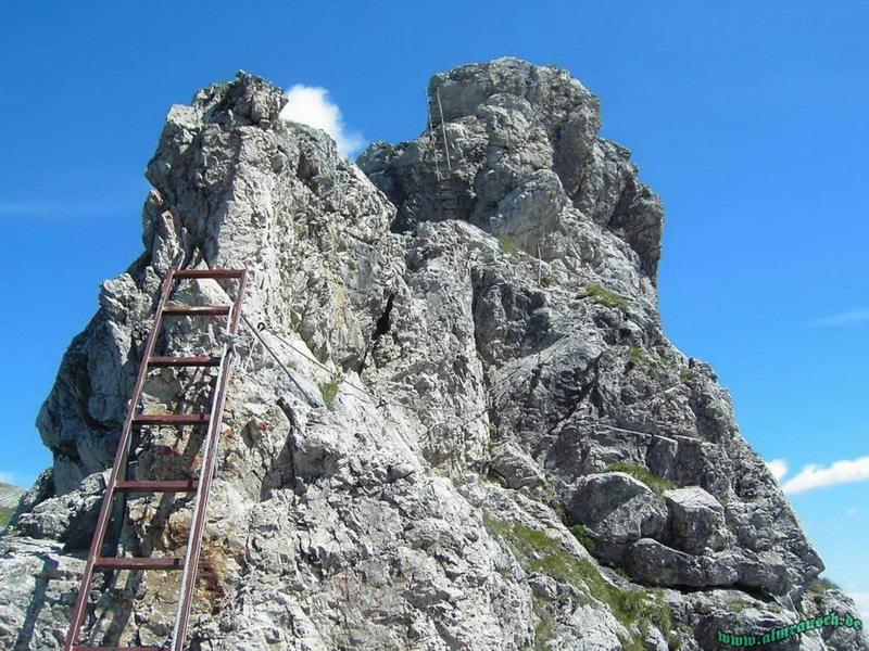 Klettersteig Hindelang : Hohe gänge hindelanger klettersteig
